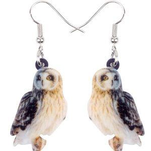 Owl Acrylic Earrings Halloween